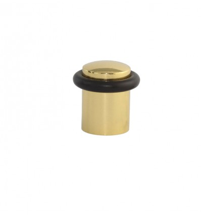 Brass Doorstops with screw (I-108-E) - bright