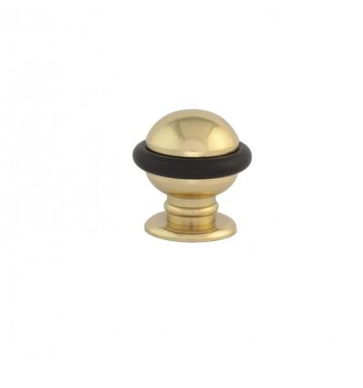 Brass Doorstops with screw (I-114) - Bright