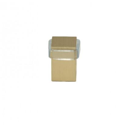 Brass Doorstops with screw (I-190) - Matt, Transparent Rubber