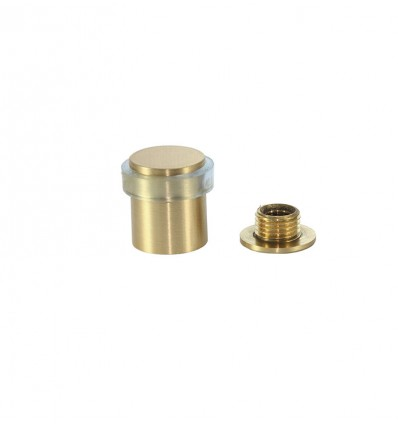 Brass Doorstops with screw (I-180 TCB) - Matt, Transparent Rubber