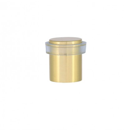 Brass Doorstops with screw (I-180 T) - Bright Transparent Rubber