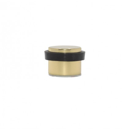 Brass Doorstops Adhesive (I-191/24)- Matt Black Rubber