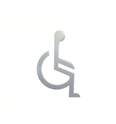 Stainless Steel pictograph - handicapped person shape AISI 316 (Ref: 662)