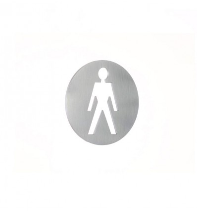 Stainless Steel pictograph - man plaque AISI 316 (Ref: 663)