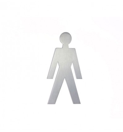 Stainless Steel pictograph - man shape AISI 316 (Ref: 660)