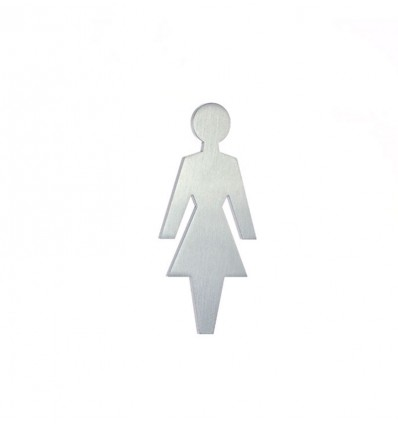 Stainless Steel pictograph - woman shape AISI 316 (Ref: 661)