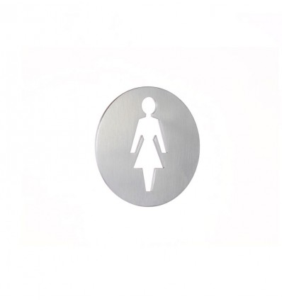 Stainless Steel pictograph - woman plaque AISI 316 (Ref: 664)
