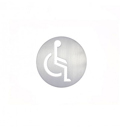 Stainless Steel pictograph - handicapped person plaque AISI 316 (Ref: 665)