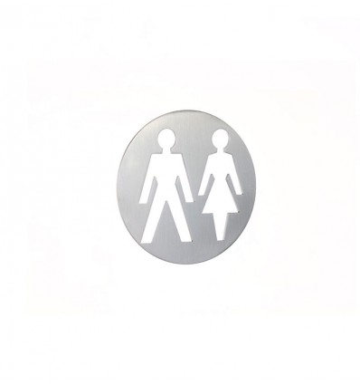 Stainless Steel pictograph - man and woman plaque AISI 316 (Ref: 666)