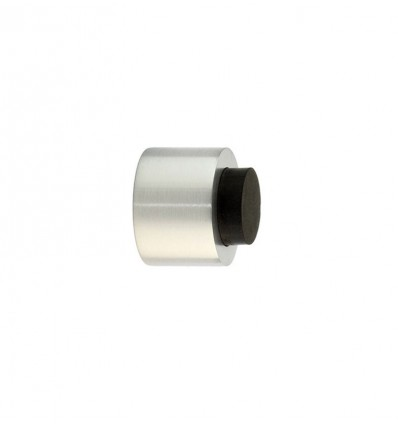 Stainless Steel wall-handle stops - Adhesive Matt Black rubber (Ref: I-198-28)
