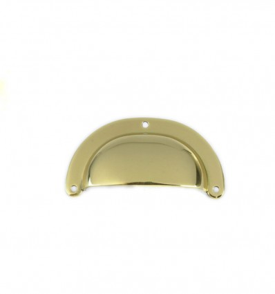 Brass pull handles - Dull chrome  (Ref 3060)