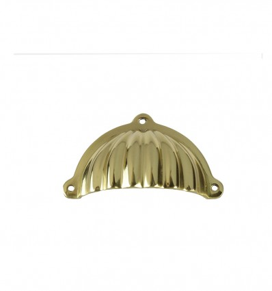 Brass pull handles - bright (Ref 3055)