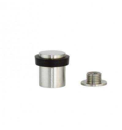 Stainless steel doorstops with screw - Matt Black rubber (I-181-CB)
