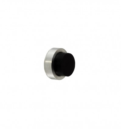 Stainless Steel wall-handle stops - Adhesive (Ref:I-205-24 ) - Matt black rubber